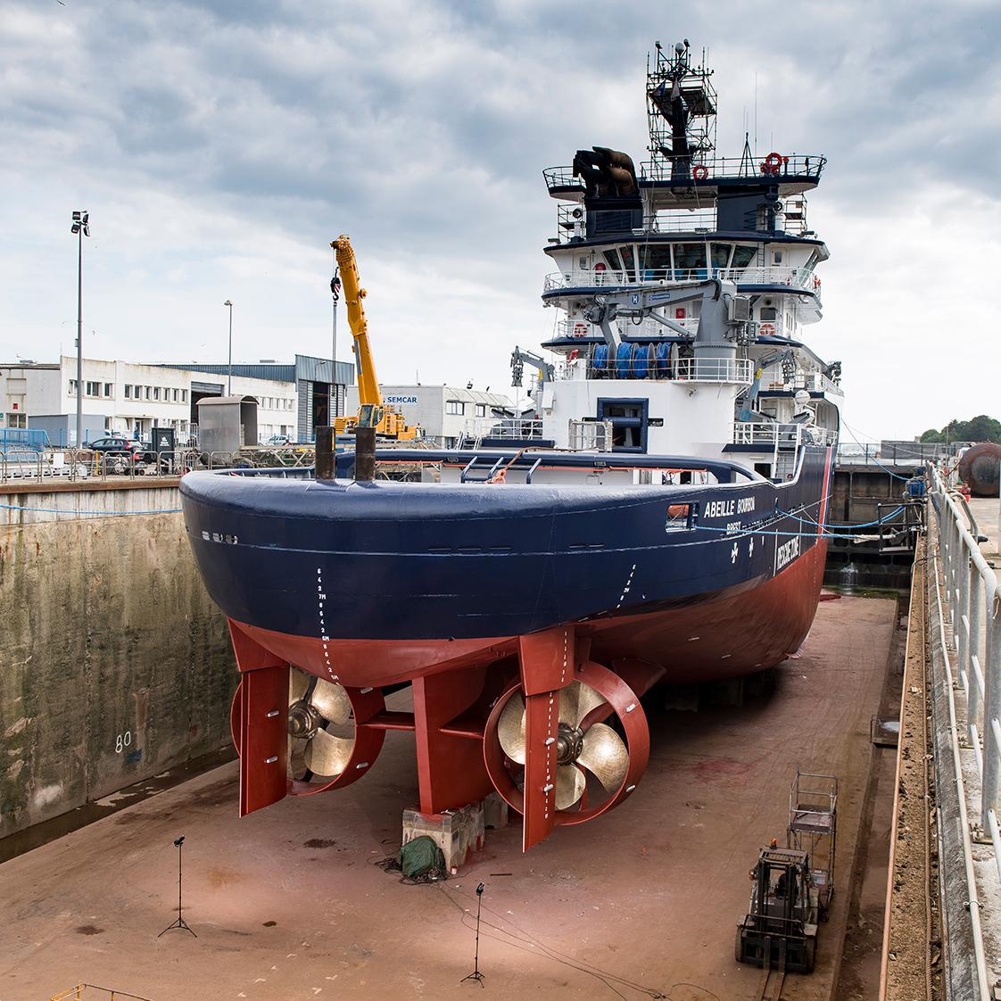 photographie réparation de bateau dans le Finistère