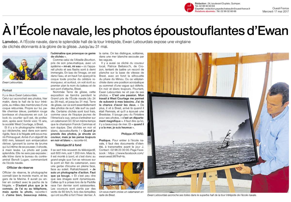 Article sur le photographe Ewan Lebourdais à Brest