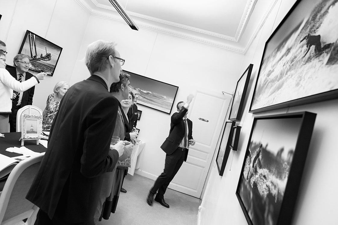 Présentation de l'exposition de photos à Paris
