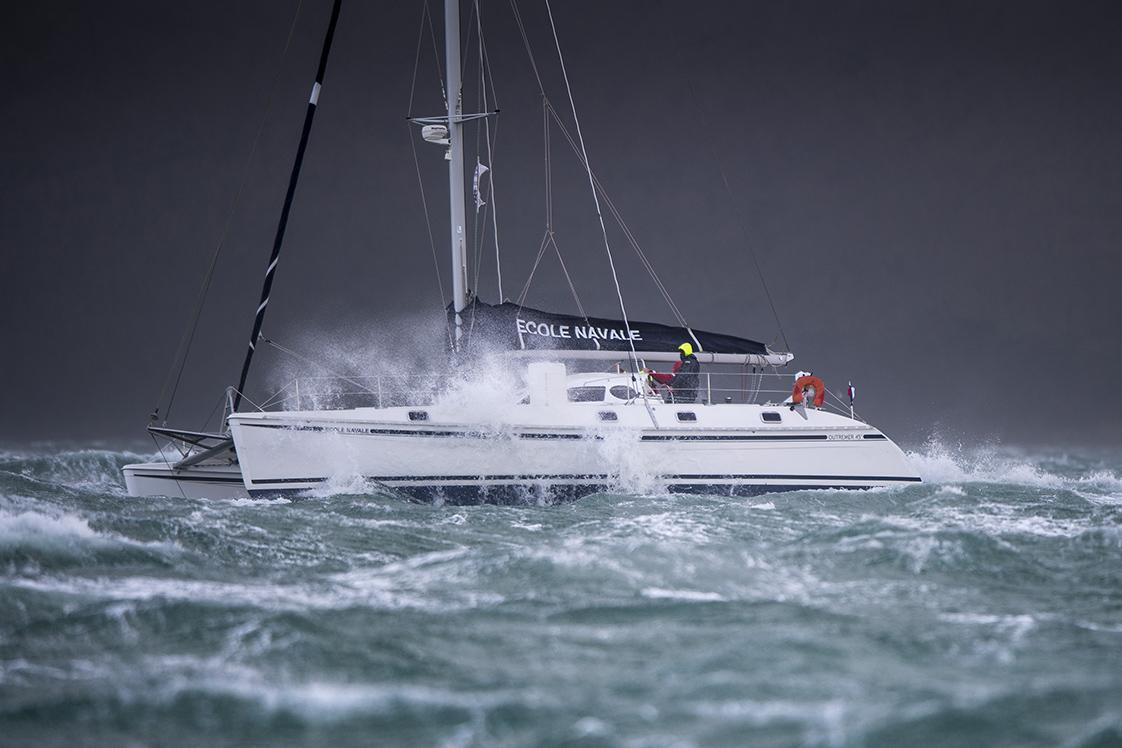 Photographie de mer bateau en rade de Brest