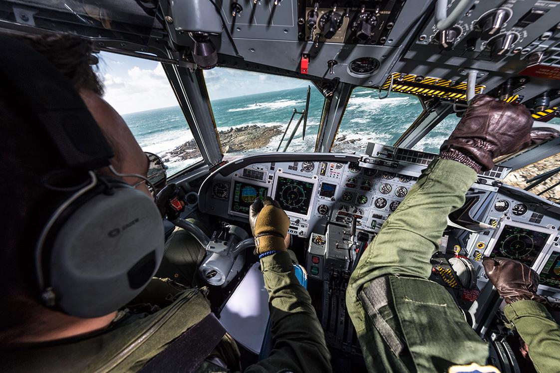 hotographie Dans un avion militaire