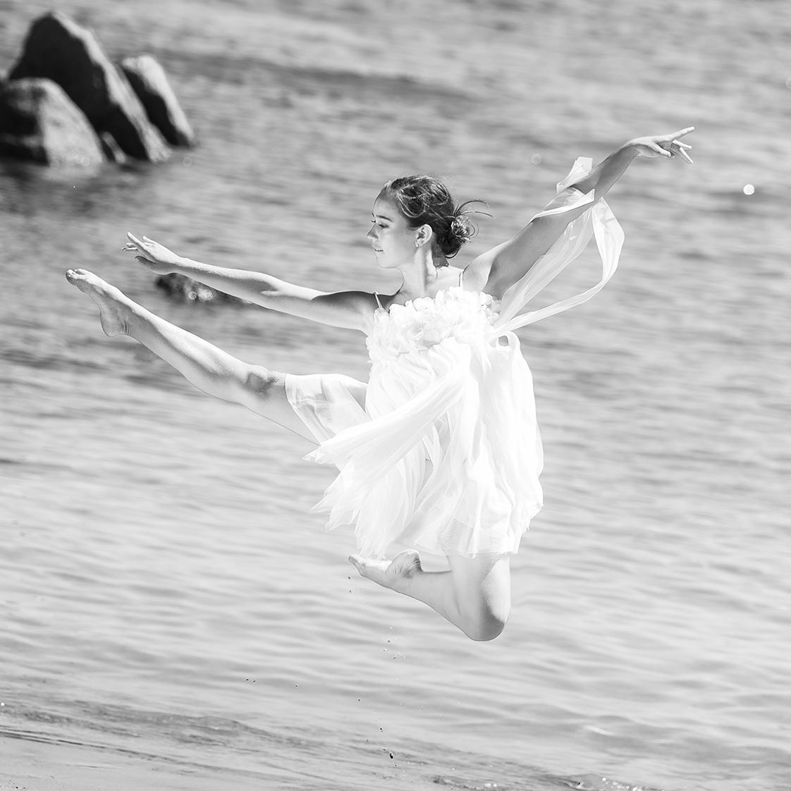photographie d'une danseuse en Bretagne