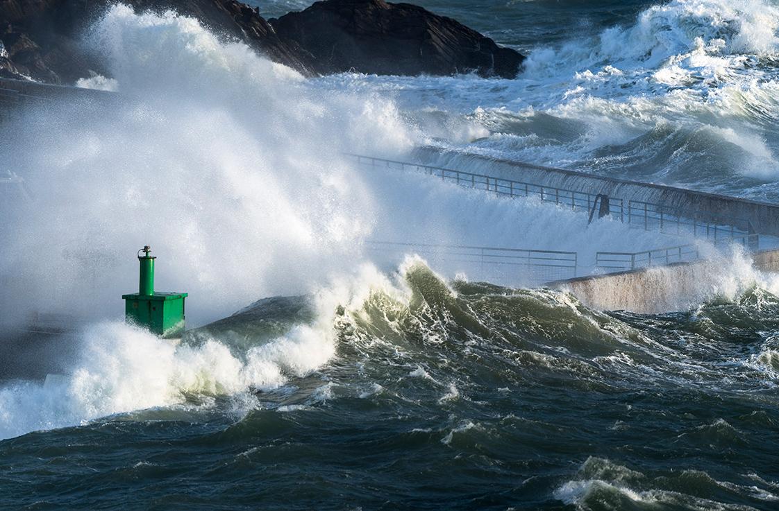 photographie d'une tempête en Bretagne