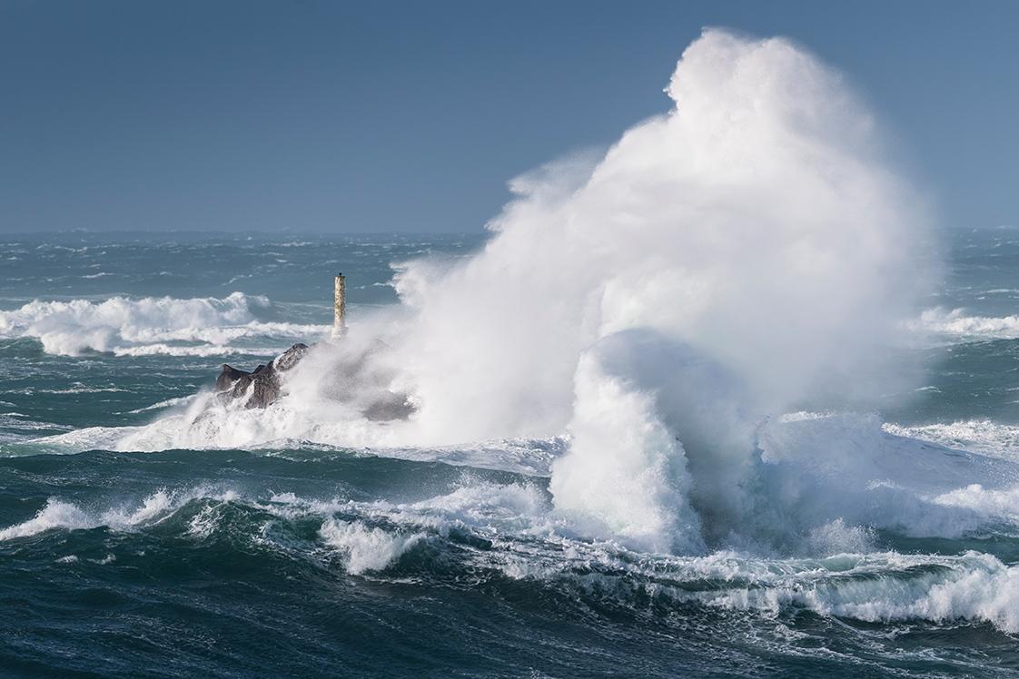 Photographie d'une tempête au Conquet