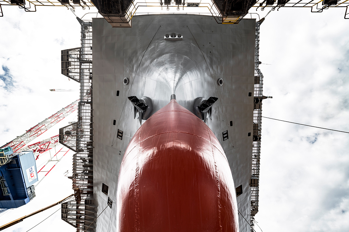 photographie du porte-avion Charles de Gaule
