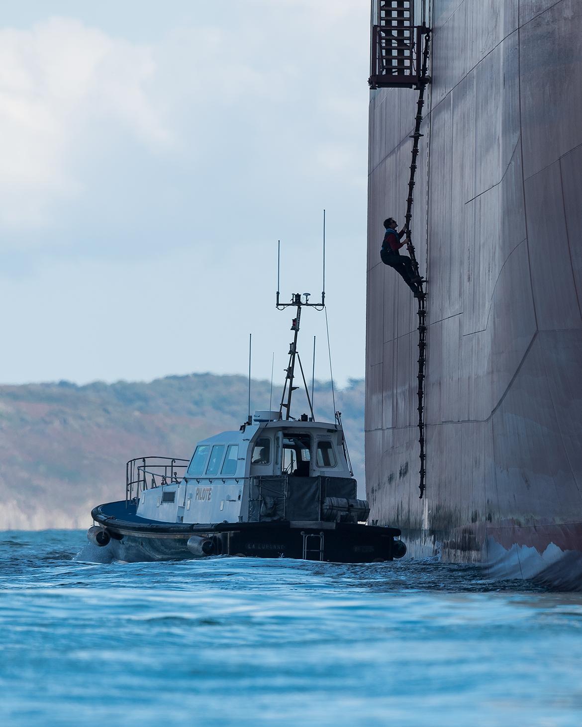 Photographie Brest - Pilote de mer à bord