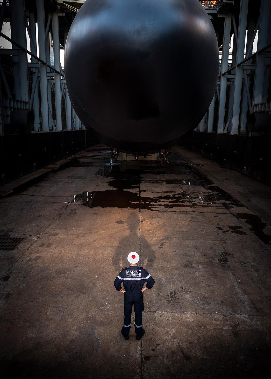 photographie face à un sous-marin