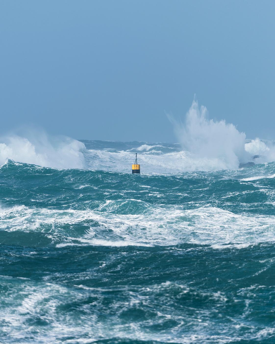 Photographie de la tempête Zeus en Bretagne