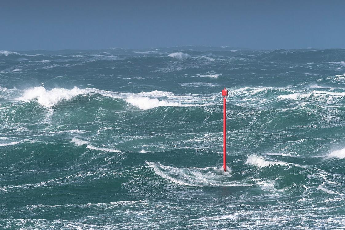 Photographie de la tempête Zeus sur les côtes du Finistère