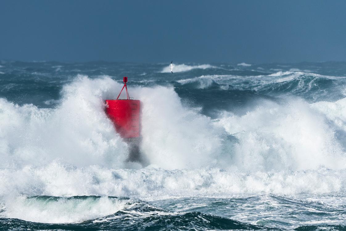 Photographie en mer de la tempête Zeus