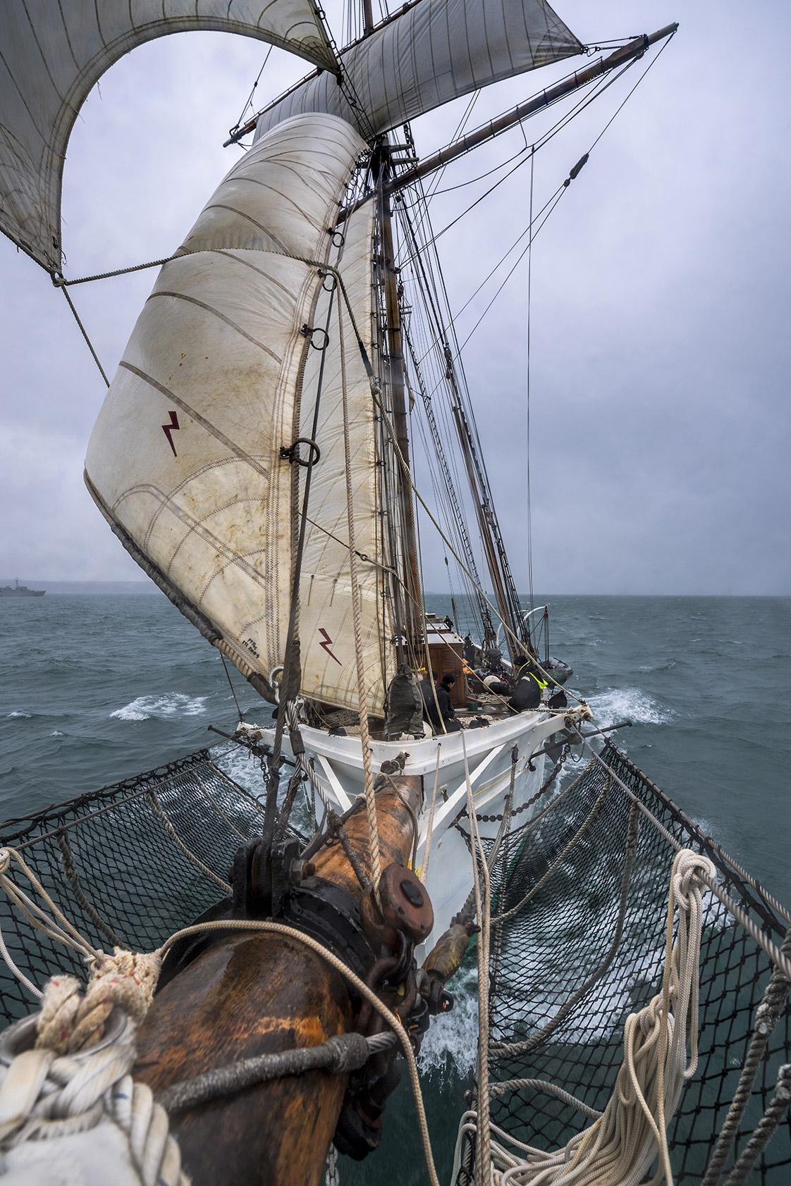photographie du voilier Etoile en rade de Brest