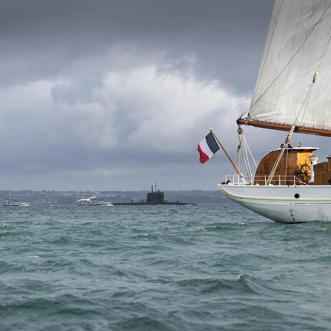 photographie du voilier Etoile dans les mers du Finistère