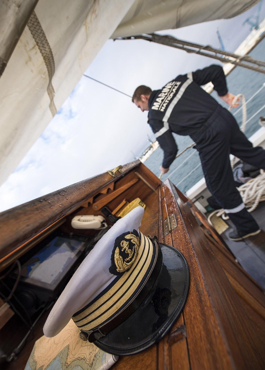 Photographie à bord du voilier Etoile