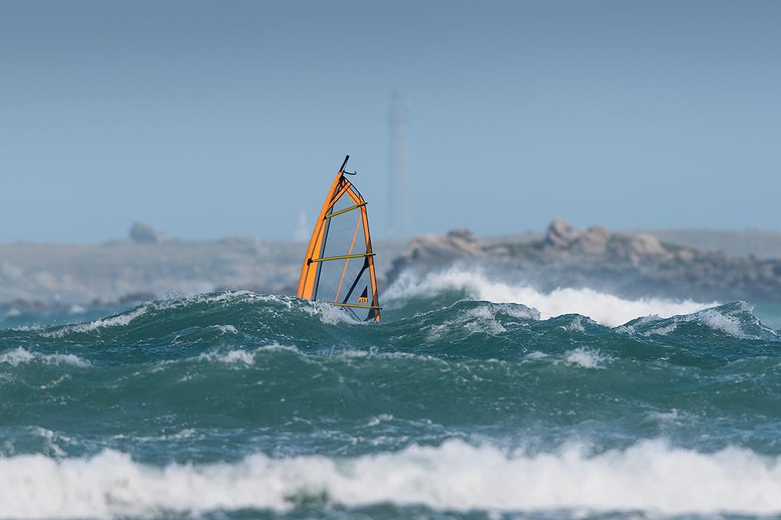 Photo durant la tempête dans le Finistère