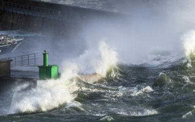 Photos de la tempête Brian en Bretagne