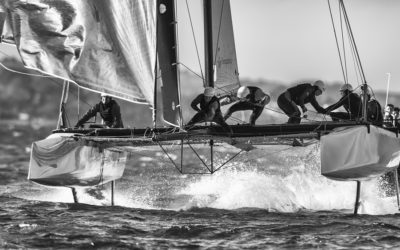 Voilier en course – Photographies en mer