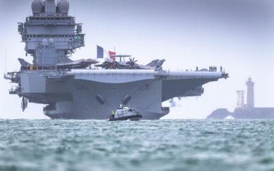 Escale historique du porte-avions à Brest